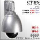 9201 - Cámara Domo PTZ Profesional SONY EXVIEW HAD CCD 960p