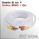 Cable Video y Alimentación 50 Mts.
