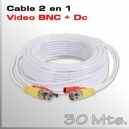 Cable Video y Alimentación 30 Mts.