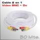 Cable Video y Alimentación 30 Mts.