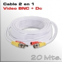 Cable Video y Alimentación 20 Mts.