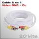 Cable Video y Alimentación 20 Mts.