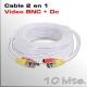 Cable Video y Alimentación 10 Mts.