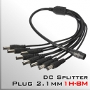 Plug 2.1mm DC Splitter 1H-8M