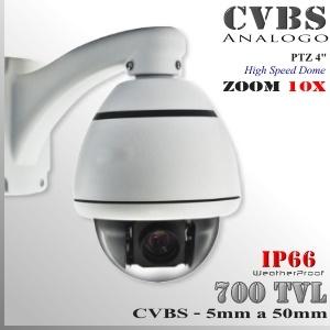 9252 - Cámara Domo Mini PTZ Profesional CCD SONY eFFIO 700TVL 10X