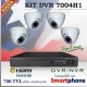 KIT NVR 7004H1 - 500GB - KIT FULL DVR 4 Canales ProSeries - HDMI