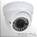 "3661A - Cámara Domo Profesional con IR - CCD 1/3"" SONY SUPER HAD - 700TVL"
