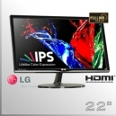 "Monitor 22"" IPS Slim FullHD LG Led Wide Screen - Televisor CCTV"