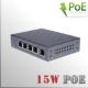 Switch POE 4 bocas (5 puertos) - 15W