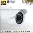 "BOX CVI 2MP 1/2.8"" SENSOR SONY IMX323 35 IR LED - 3,6MM IP67"