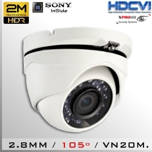 CVI-3651-2MP DomeCam IR Profesional Sensor SONY 1080p 2Mp HD-CVI 105º