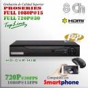 6108M | HD-CVR 8Ch | 1080p@15fps | 720p@30fps | ProSeries HD | HIBRIDO