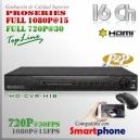 6216M | HD-CVR 16Ch | 1080p@15fps | 720p@30fps | ProSeries HD | HIBRIDO