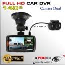 CARDVR Vehículo FULL HD - 140º - Sensor SONY - Cámara Dual 1080p | 720p