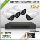 KCVI_4Chx4CVI-3545 - KIT 4 cámaras XPROHD + CVR TRI-Hibrido