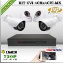 KCVI_4Chx4CVI-MX - KIT 4 cámaras XPROHD + CVR TRI-Hibrido