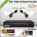 KCVI-FHD_8Chx4CVI-MX - KIT FullHD 4 cámaras XPROHD CVR HIB de 8Ch