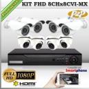 KCVI-FHD_8Chx8CVI-MX - KIT FullHD 8 cámaras XPROHD CVR HIB de 8Ch