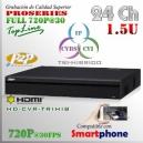 4224LM-S2 | HD-CVR 24Ch 1.5U | 720p@30fps | ProSeries HD | TRIHIBRIDO