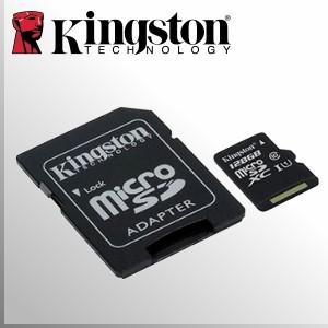 Kingston UHS-I 128GB MicroSDXC™ | 10MB/s | Clase 10 + Adaptador SD