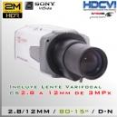 CVI-7000-2MP+2.8MM - Bullet Cam PROF Sensor SONY 1080p 2Mp HD-CVI
