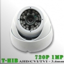 3651H-1MP - DomeCam IR Profesional Sensor SONY 720p 1Mp HD-HIB