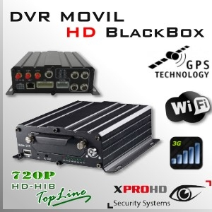 MDVR HD 4CH (GPS + WIFI + 3G) DVR MOVIL HIBRIDO 720p - BlackBox