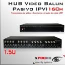 16Ch HUB BALUN (VPS) 12v HD-CVI / AHD / Análogo tradicional/ HD-TVI