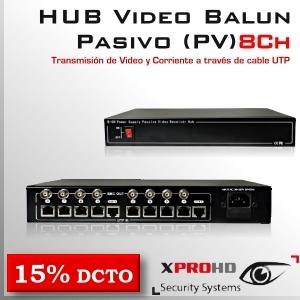 8Ch HUB BALUN (VPS) 12v HD-CVI / AHD / Análogo tradicional/ HD-TVI