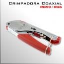 Crimpadora RG59 RG6 | Conector F | Para cable coaxial