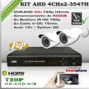KAHD-4Chx2-3547H - KIT 2 cámaras XPROHD + DVR-AHD 4Ch 500GB