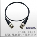 Patch Cord BNC M-M 60CMS | Blindado Alta resistencia 50 Ohm