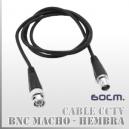 Patch Cord BNC M-H 60CMS | Blindado Alta resistencia 50 Ohm