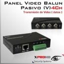 4Ch Panel Balun Pasivo (V) HD-CVI / AHD / Análogo tradicional/ HD-TVI