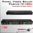16Ch Panel Balun Pasivo (V) HD-CVI / AHD / Análogo tradicional/ HD-TVI 1.5U Folksafe