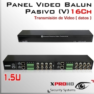 16Ch Panel Balun Pasivo (V) HD-CVI / AHD / Análogo tradicional/ HD-TVI