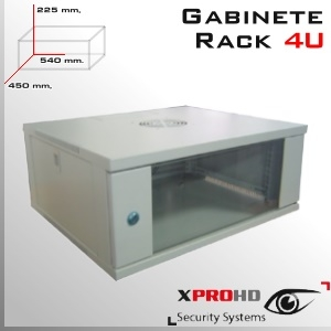 RACK 4U GABINETE 540x 450x 225(mm) Llave y Extractor