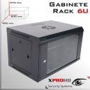 RACK 6U | GABINETE | 600x 450x 370(mm) | LLAVE Y EXTRACTOR