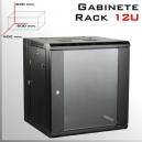 RACK 12U GABINETE | 600x 600x 640(mm) | LLAVE Y EXTRACTOR