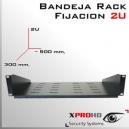 """BANDEJA PARA RACK 19"""" 300MM - FIJACION DELANTERA 2U"""