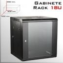 RACK 18U GABINETE | 600x 600x 900(mm) | LLAVE Y EXTRACTOR