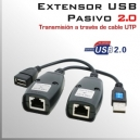 Extensor USB 2.0 Pasivo - Via cable UTP - Pasivo