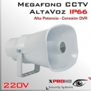 MEGAFONO CCTV Activo 220v | Altavoz | Alta Potencia | RCA IN | IP66