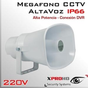 MEGAFONO CCTV Activo   Altavoz   Alta Potencia   RCA IN   IP66