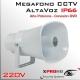 MEGAFONO CCTV Activo 220v   Altavoz   Alta Potencia   RCA IN   IP66