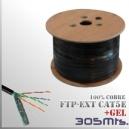 CABLE FTP CAT5e - Exterior Gel y Apantallado - 100%CU - 305 MTS.