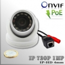 IP1M-3650-1MP - Mini DomeCam IR Profesional Sensor SONY 720p 1Mp HD - POE