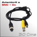 AVIACION 4 PIN A VIDEO + ALIMENTACIÓN (BNC+DC)