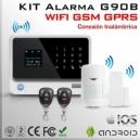 KIT Alarma Inalámbrica WIFI + GSM + GPRS | G90B