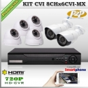 KCVI_8Chx6CVI-MX - KIT 6 cámaras XPROHD con CVR Hibrido de 8Ch